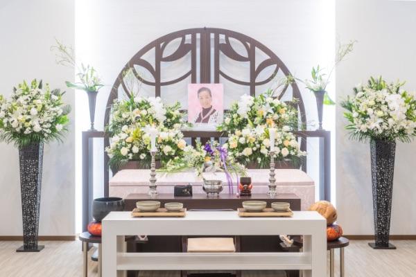 デラックスプラン祭壇花